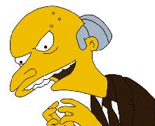 Monty Burns: Podrido de pasta