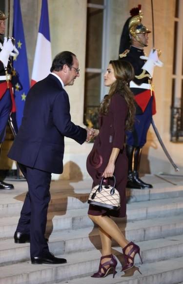 Impecable Rania de Jordania
