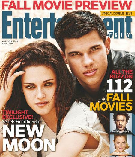 Taylor Lautner y Kristen Stewart portada de Entertainment Weekly