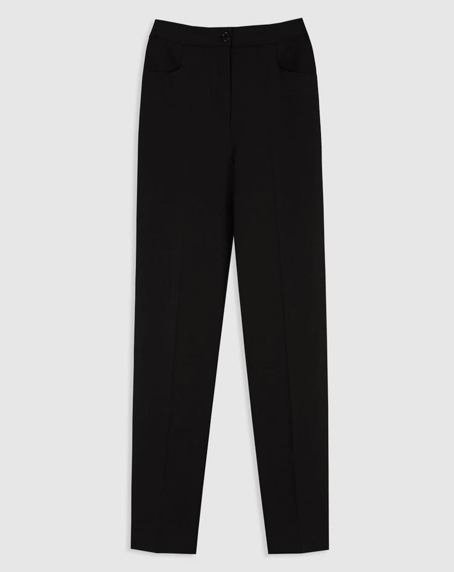 Pantalón ancho de mujer básico en liso