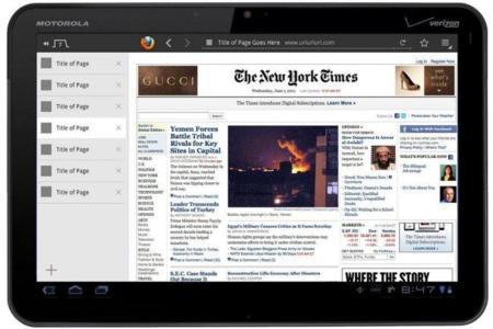 Firefox en Tablets