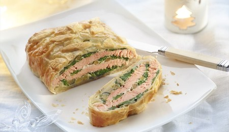 Salmon Wellington Espinacas