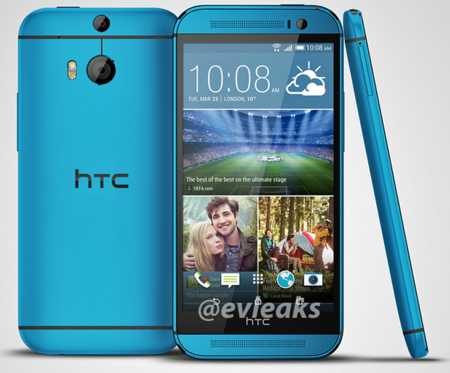 HTC One M8 se deja ver en color azul
