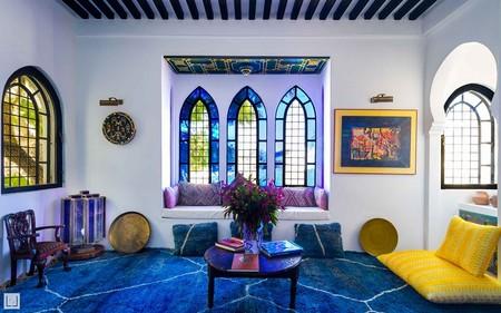 Airbnb Classic Blue Habitacion Con Terraza En Un Palacio En Tanger