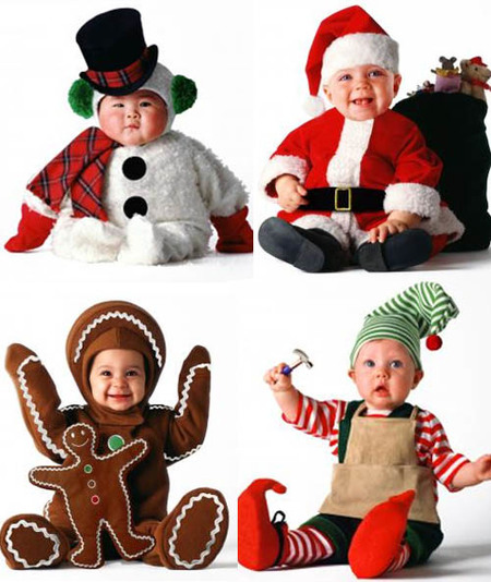 Preciosos disfraces navideños para bebés
