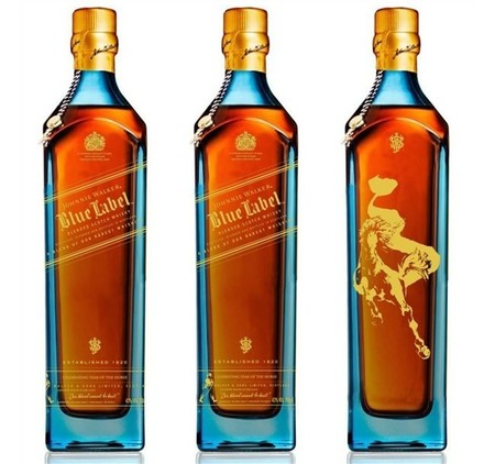 johnnie walker caballo botella