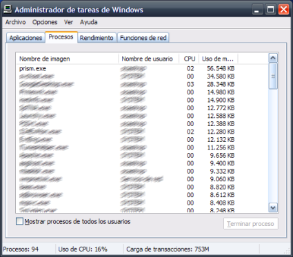 Consumo en Windows