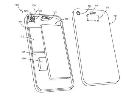 Una patente de Apple convierte la tapa trasera del iPhone en múltiples accesorios para la cámara