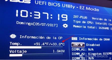 Temperatura Bios