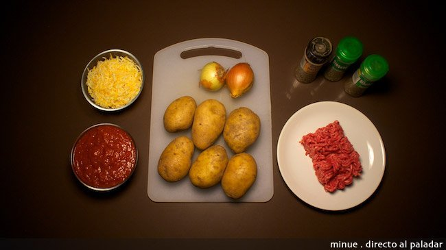 patatas a la boloñesa - ingredientes