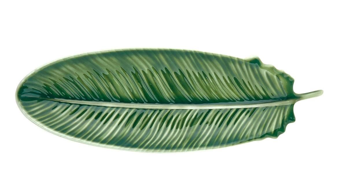 Fuente de melamina con forma de hoja