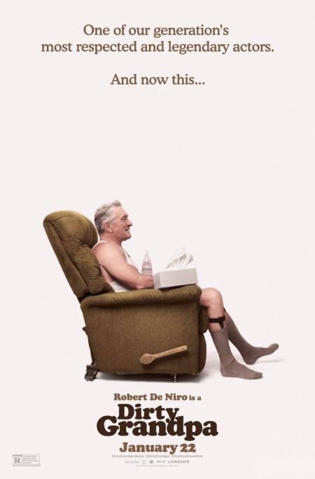 Cartel de Dirty Grandpa centrado en De Niro