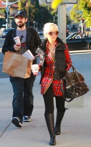Christina Aguilera de tartan