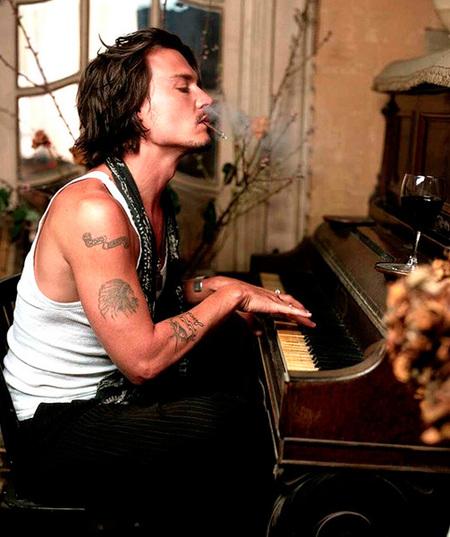 Jonnhy Depp Tatuaje