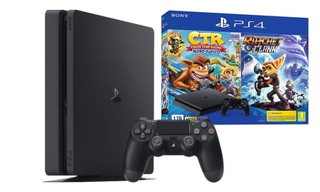 Con el cupón AHORRATE20 de AliExpress Plaza, te puedes llevar la PS4 Slim de 1 TB con Crash Team Racing y Ratchet y Clank por 339,90 euros