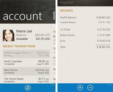 Paypal desaparece de Windows Phone 8, pero sigue en WP 7.5