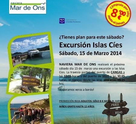 Visita las islas Cíes este sábado 15 de marzo con un precio low-cost