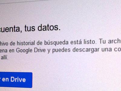 Así de sencillo es exportar el historial de búsquedas de Google