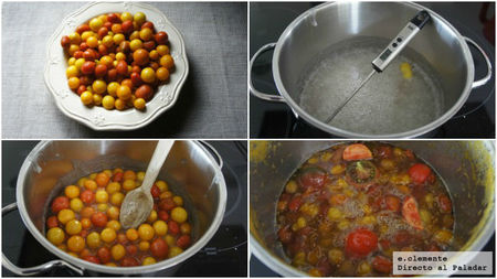Paso a paso confitura de tomate cherry