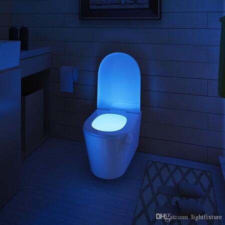 Led Motion Sensor Toilet Night Light 7 Colors