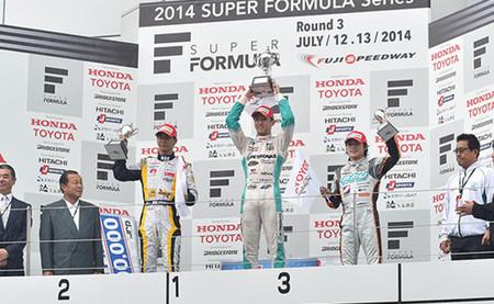 Podio Fuji Rd.03 Super Fórmula 2014