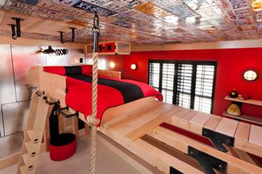 Puertas abiertas: una habitación juvenil para un deportista