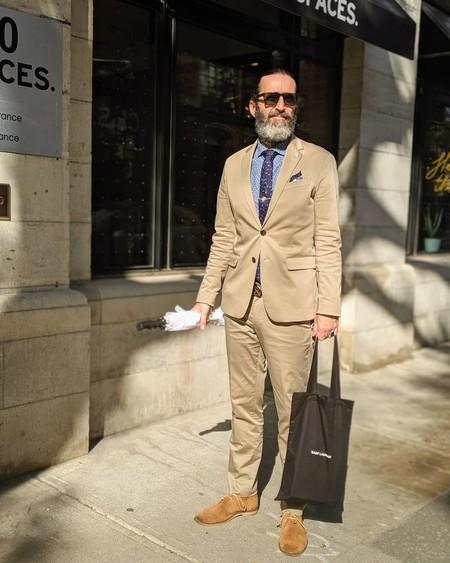 Tan Suit Men Street Style Beige Trendencias Hombre 04