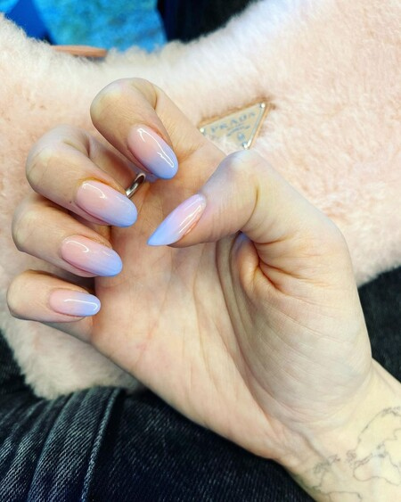 Chiara Ferragni Ombre Nails