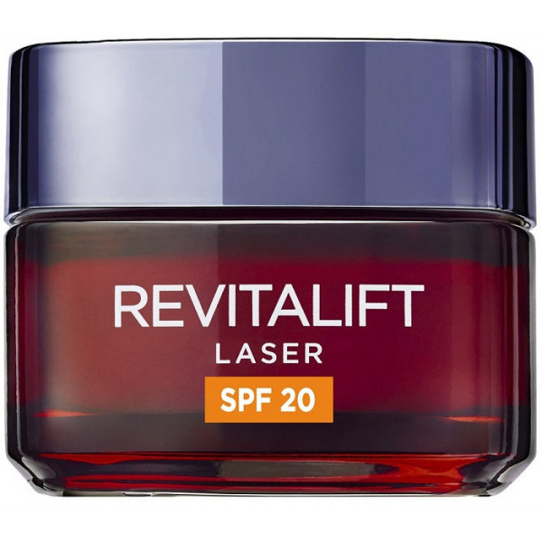 L'Oréal Paris Revitalift Láser Crema de Día Anti-Edad Triple Acción, Protección Solar SPF 20