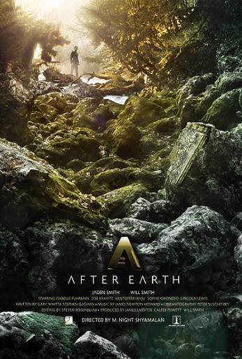 Imagen con el cartel de 'After Earth'