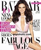 Mila Kunis, jamón y entreteto en la portada de Harper's Bazaar