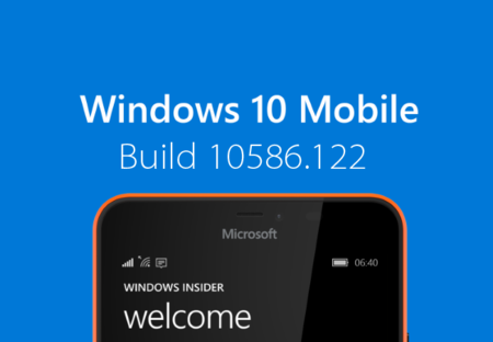 La Build 10586.122 ya está disponible para los anillos Slow y Release