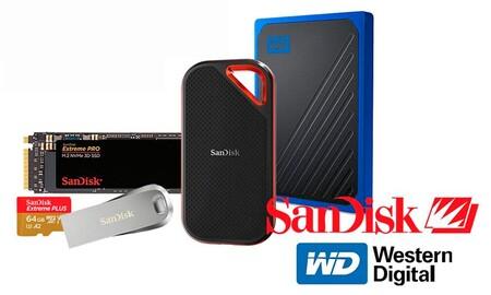 Ofertas de primavera en almacenamiento SanDisk y Western Digital: Amazon te pone el TB y el GB al mejor precio