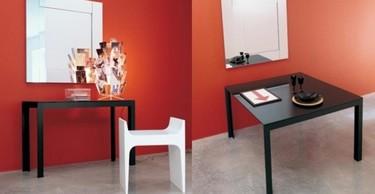 Consolas que se convierten en mesas y viceversa