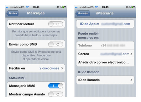 iMessage iOS