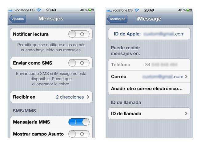 iMessage iOS