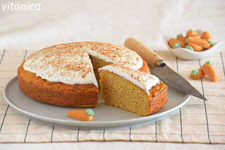 Carrot cake fitness proteico