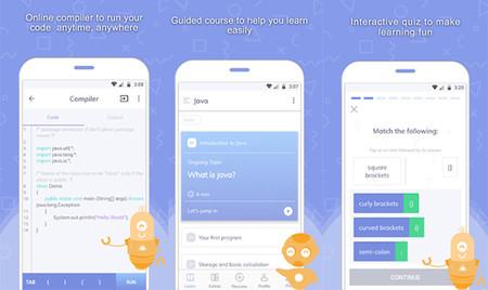 Capturas de la app Programming Hub