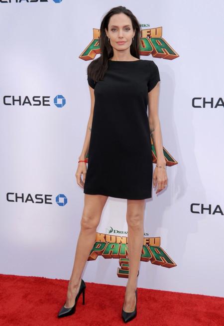 Angelina Jolie Saint Laurent Vestido Negro Kung Fu Panda 3 2