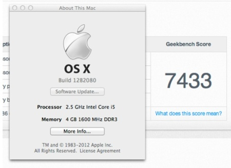 Geekbench Mac Mini