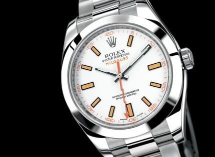 Reloj Rolex Oyster Perpetual Milgauss con esfera blanca