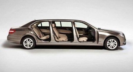 Mercedes Clase E limusina, siete plazas y casi seis metros