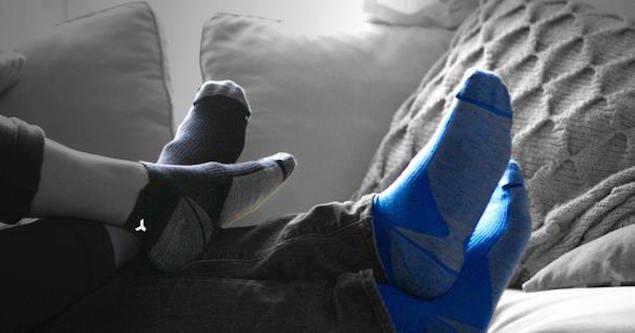 Calcetines sin lavar y sin olor