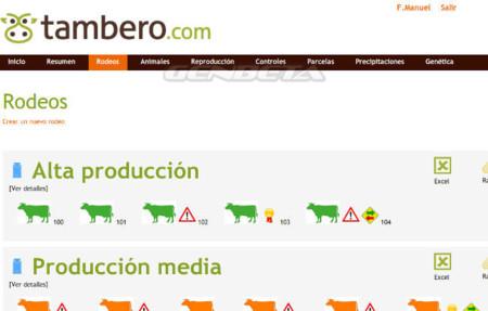 Tambero.com, módulo rodeos