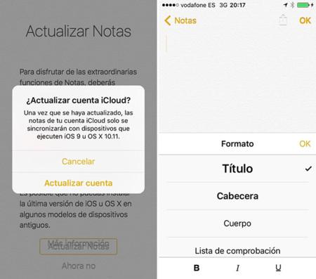 Notas iOS 9
