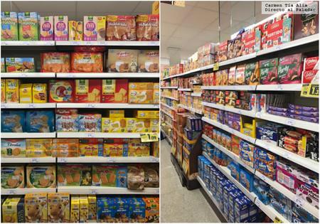 Pasillo De Las Galletas En Supermercado