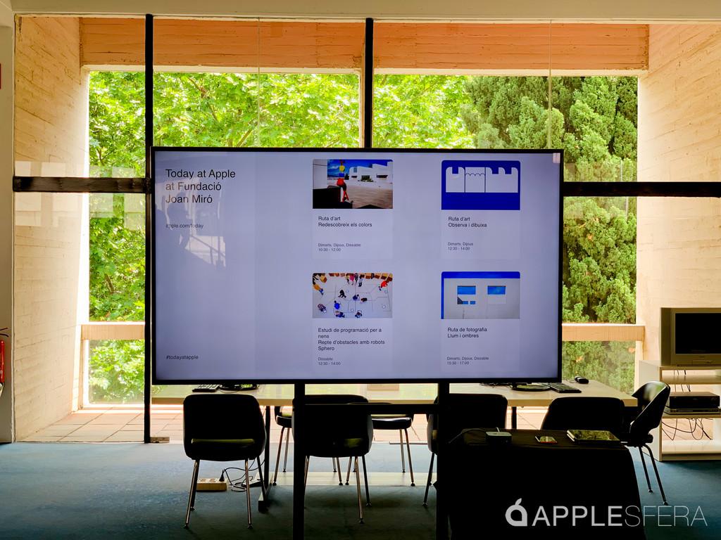 Primera vez fuera de las tiendas: así es la experiencia Today at Apple™ en la Fundació Joan Miró de Barcelona