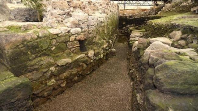 excavación de la Porticada en Santander