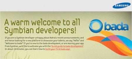 Samsung abre las puertas de bada a los desarrolladores Symbian