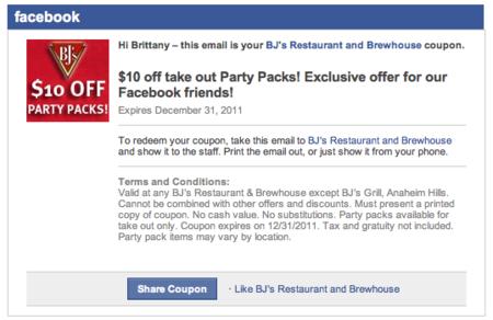 ¿Facebook empezará a ofrecer cupones?